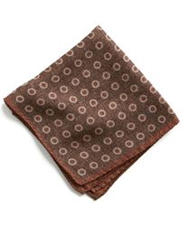 Todd Snyder - Italian Wool Pocket Square In Large Brown Circle - Lyst