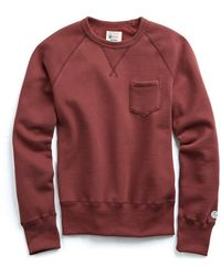 Todd Snyder - Classic Pocket Sweatshirt In Crimson - Lyst
