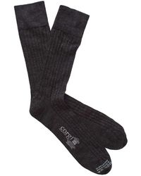 Corgi - Solid Charcoal Dress Socks - Lyst