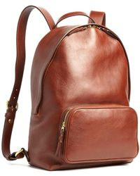 Lotuff Leather - Chestnut Leather Backpack - Lyst