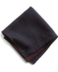 Todd Snyder - Italian Wool Pocket Square In Red Dot - Lyst