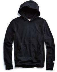 Todd Snyder - Fleece Popover Hoodie In Black - Lyst