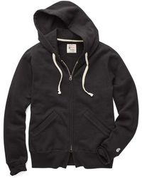 Todd Snyder - Full Zip Hoodie In Black - Lyst