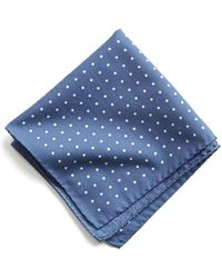 Todd Snyder - Italian Cotton Polka Dot Pocket Square - Lyst
