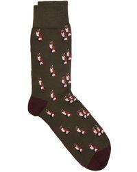 Corgi - Foxes Socks In Green - Lyst