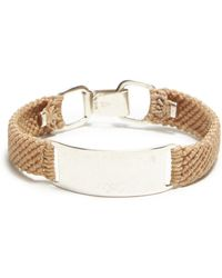 Scosha - Belt Id In Silver And Brazil Tan - Lyst