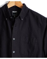 Todd Snyder - Japanese Selvedge Oxford Shirt In Black - Lyst