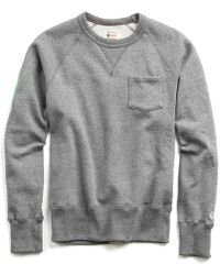 Todd Snyder - Classic Pocket Sweatshirt In Salt And Pepper - Lyst