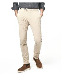 Todd Snyder - Extra Slim Fit Tab Front Stretch Chino In Khaki - Lyst