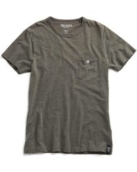 Todd Snyder - Classic Pocket Tee In Rugged Green - Lyst