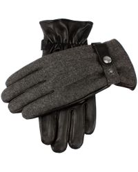 Dents - Dents Guilford Wool Flannel Back Gloves In Charcoal/black - Lyst