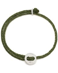 Scosha - Signature 4mm Bracelet In Silver And Olive - Lyst