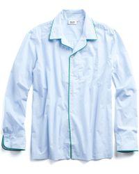 Sleepy Jones | Henry Pajama Shirt In Blue | Lyst