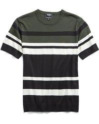 Todd Snyder - Italian Silk/cotton Variegated Stripe Short Sleeve Knit Crewneck - Lyst