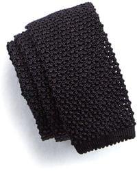 Todd Snyder - Classic Silk Knit Tie In Black - Lyst