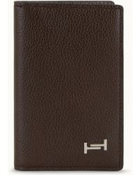 Tod's - Vertical Cardholder In Leather - Lyst