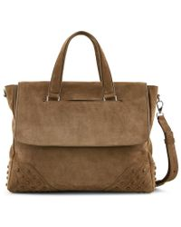 Tod's - Envelope Bag Small In Suede - Lyst