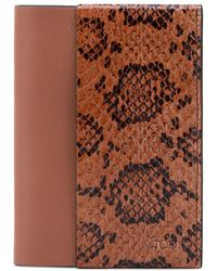 Tod's - Leather And Reptile Passport Holder - Lyst