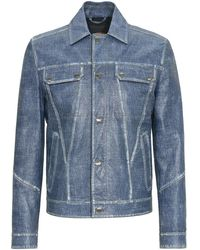 Tod's - City Jacket In Leather - Lyst