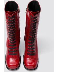 Tomas Maier - Glossy Leather Stacked Boot - Lyst