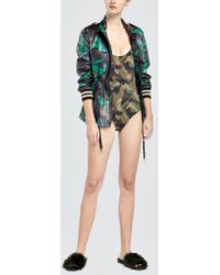 Tomas Maier - Camo Palm Swimsuit - Lyst