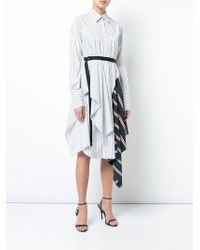 TOME - Striped Shirtdress With Insets - Lyst