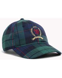 Ralph Lauren · Tommy Hilfiger - 6.0 Crest Plaid Check Baseball Cap - Lyst 3e00f1e3052c