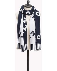 Tommy Hilfiger - Reversible Logo Knit Scarf - Lyst