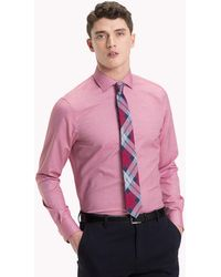 Tommy Hilfiger - Easy Care Cotton Slim Fit Shirt - Lyst