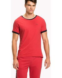 Tommy Hilfiger - Repeat Logo Tape T-shirt - Lyst