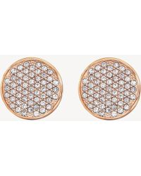Tommy Hilfiger - Icon Carnation Gold-plated Studs - Lyst