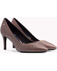 ddabcc6988ac8f Tommy Hilfiger - Metallic Leather Court Shoes - Lyst
