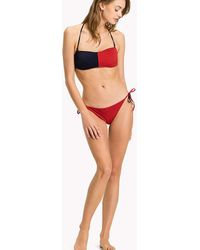 Tommy Hilfiger - Cheeky Side Tie Bikini Bottoms - Lyst