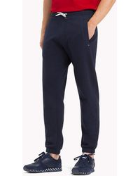 202b9470e4c Tommy Hilfiger Regular Fit Joggers in Black for Men - Lyst