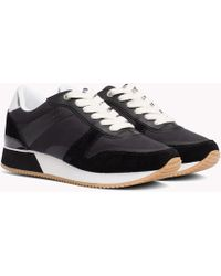 820e9381155 Tommy Hilfiger - Metallic Detail Textile Trainers - Lyst
