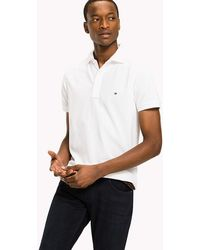 282facc22d0 Tommy Hilfiger Tommy Tipped Slim Fit Polo in White for Men - Lyst