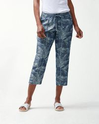 Tommy Bahama - Fresco Fronds Chambray Cropped Pants - Lyst