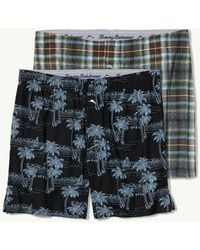 Tommy Bahama - Multi Plaid & Scenic Lines Jersey-knit Boxer Briefs - 2-pack - Lyst