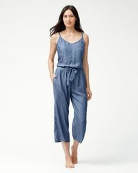 Tommy Bahama - Chambray Jumpsuit - Lyst
