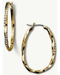 Tommy Bahama - Swarovski® Crystal Twisted Pavé Hoop Earrings - Lyst