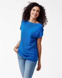 Tommy Bahama - Pickford Ribbed Short-sleeve Sweater - Lyst