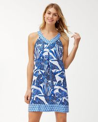 Tommy Bahama - Mosaic Palm Linen Dress - Lyst