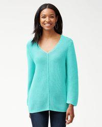 Tommy Bahama - Sea Glass V-neck Sweater - Lyst