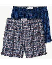 Tommy Bahama - Midnight Leaves Woven Boxer Set - Lyst