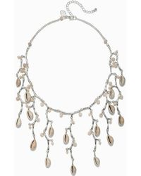 Tommy Bahama - Silver Coral & Cowrie Necklace - Lyst