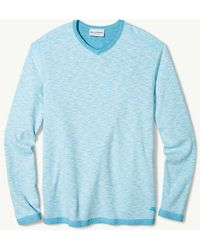 Tommy Bahama - Sea Glass Reversible V-neck Sweatshirt - Lyst