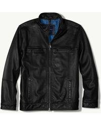 Tommy Bahama - Hudson Peak Leather Aviator Jacket - Lyst