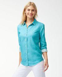 Tommy Bahama - Sea Glass Breezer Linen Boyfriend Shirt - Lyst
