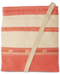 TOMS | Coral Embroidered Canvas Passage Crossbody | Lyst
