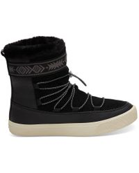 ab646f657abf7 TOMS - Black Leather Women's Alpine Boots - Lyst